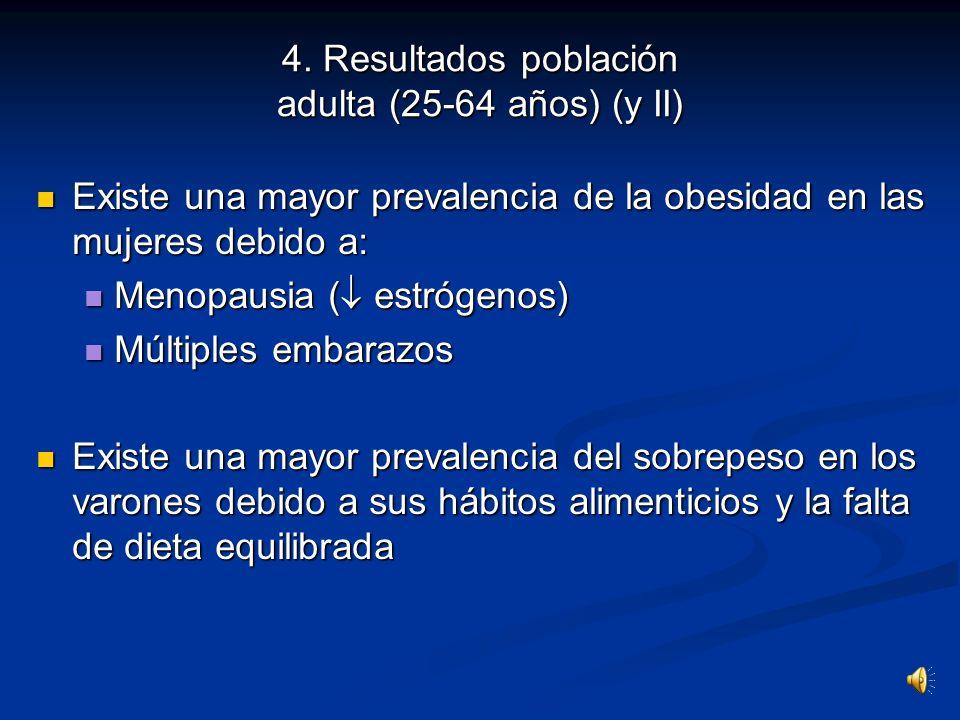 4. Resultados población adulta (25-64 años) (y II)