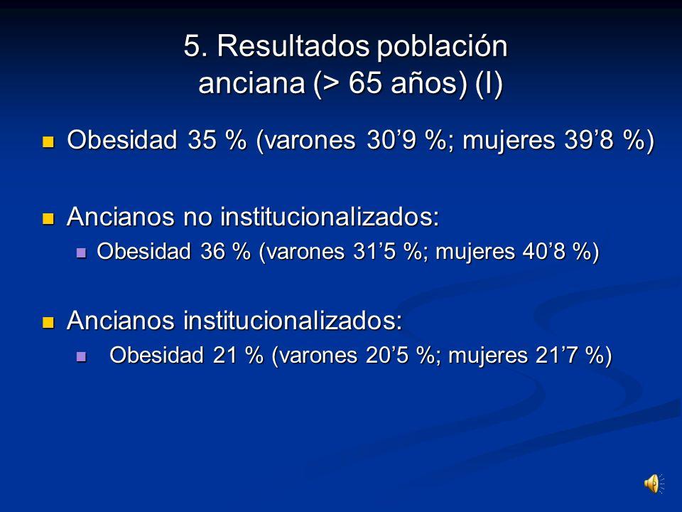 5. Resultados población anciana (> 65 años) (I)