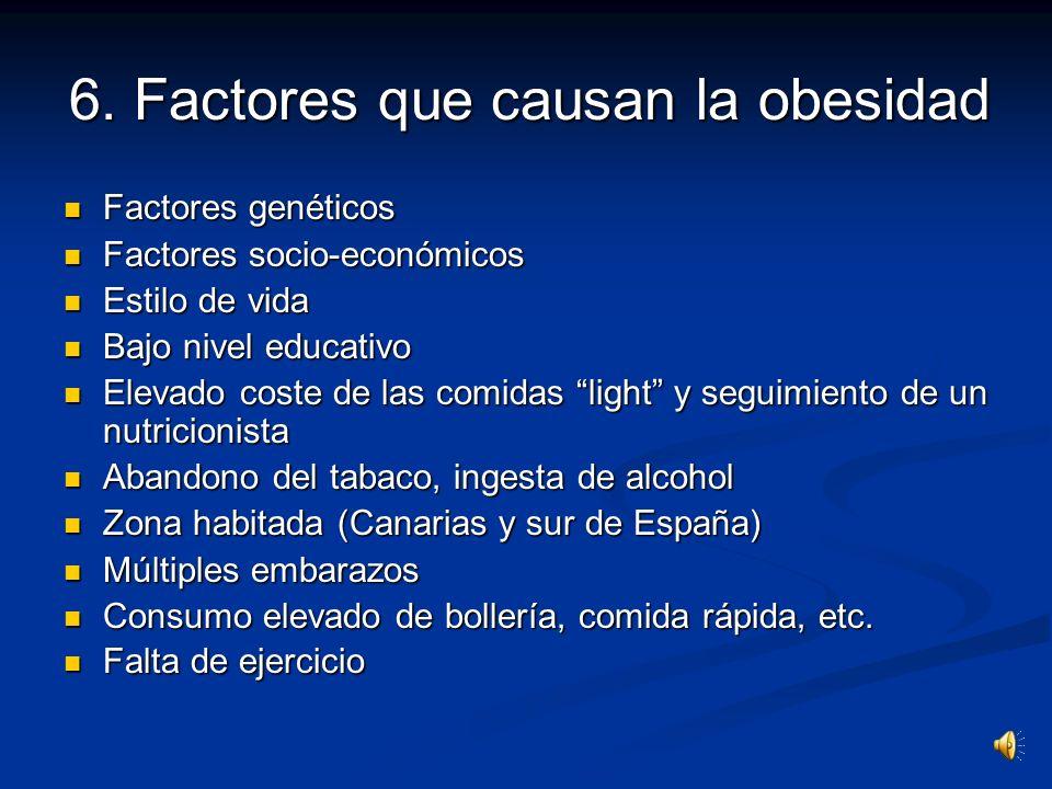 6. Factores que causan la obesidad
