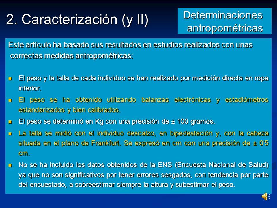 Determinaciones antropométricas
