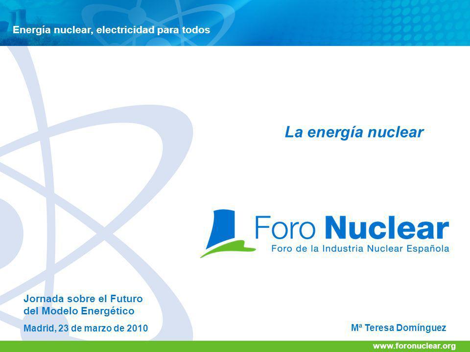 La energía nuclear Energía nuclear, electricidad para todos