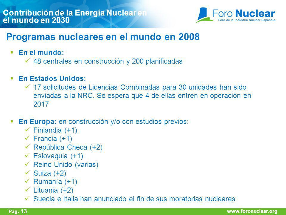 Programas nucleares en el mundo en 2008