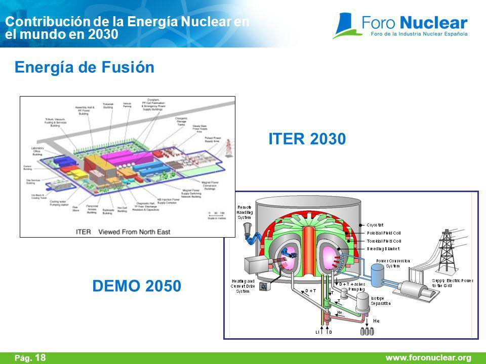 Energía de Fusión ITER 2030 DEMO 2050