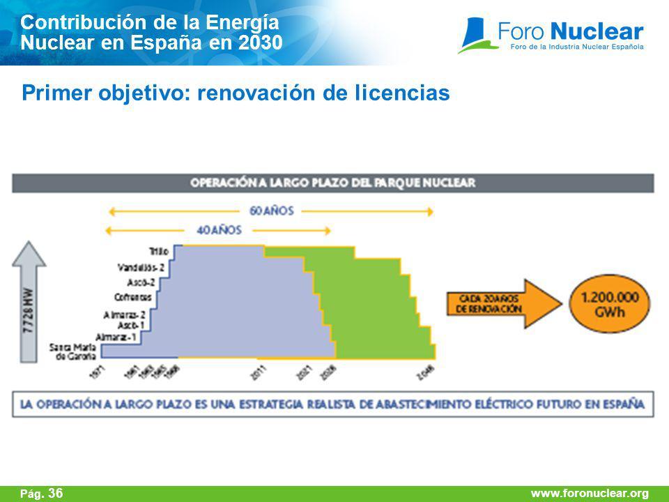 Primer objetivo: renovación de licencias