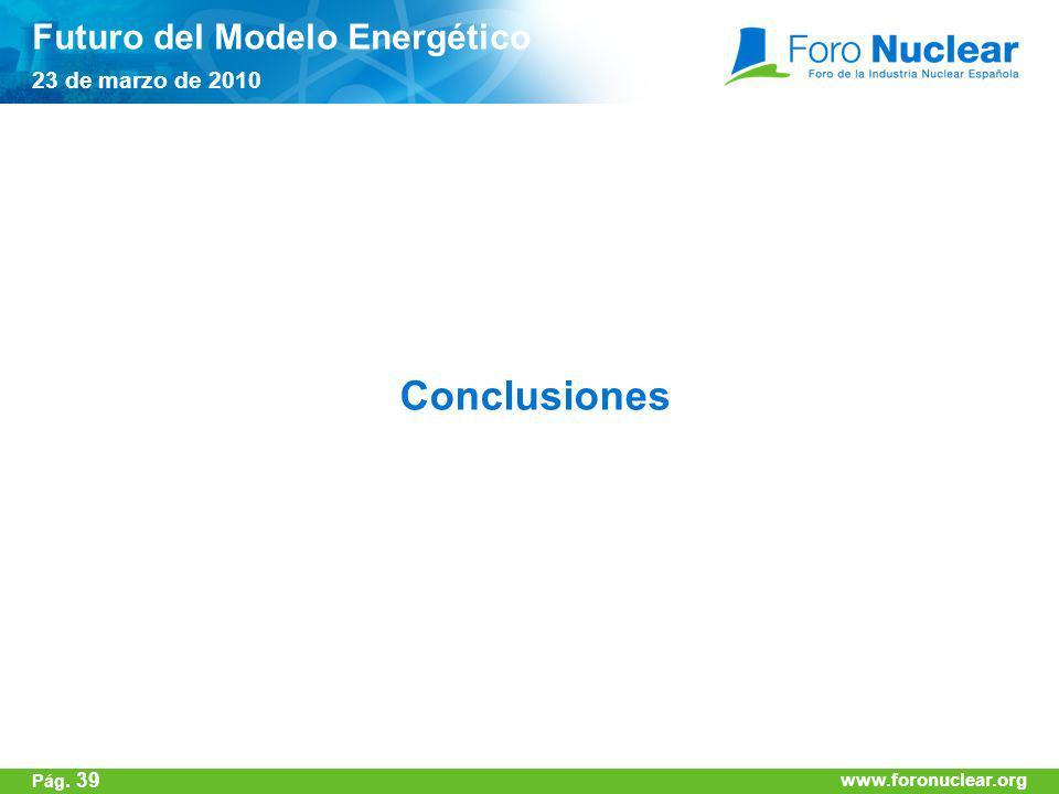 Conclusiones Futuro del Modelo Energético 23 de marzo de 2010