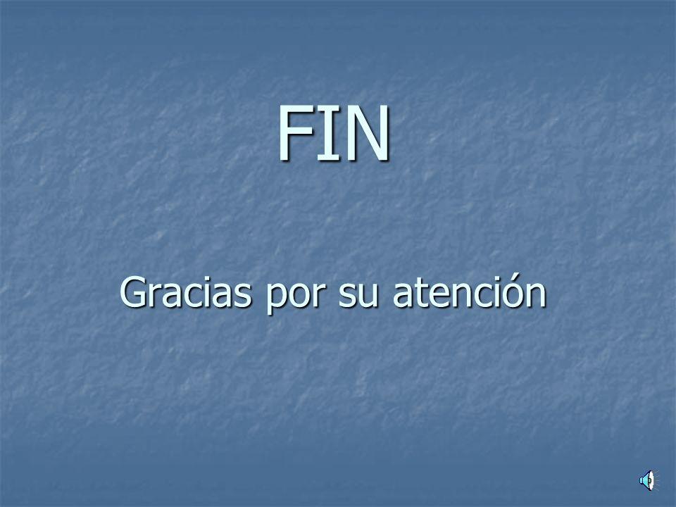 FIN Gracias por su atención