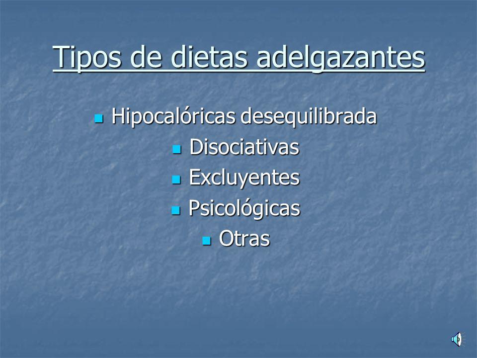 Tipos de dietas adelgazantes