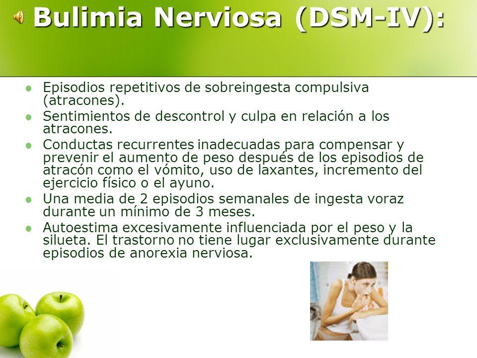 Bulimia Nerviosa (DSM-IV):