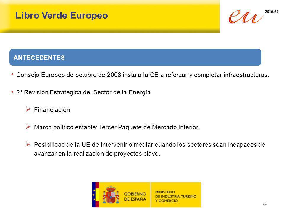 Libro Verde Europeo ANTECEDENTES