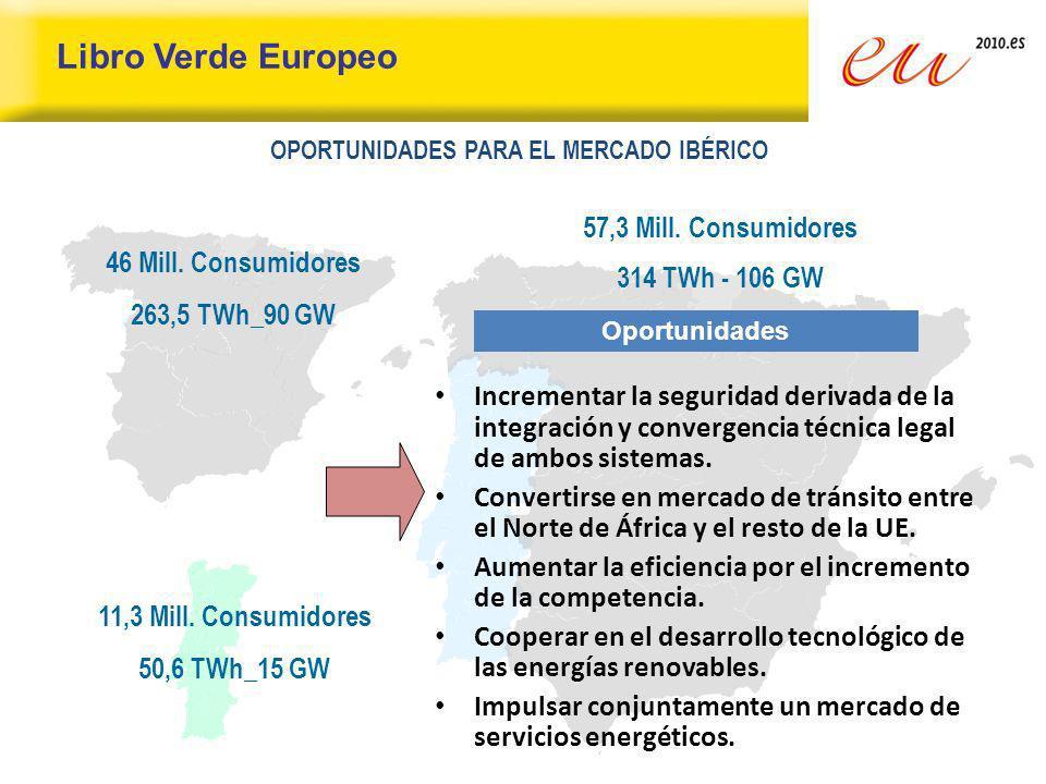 Libro Verde Europeo 57,3 Mill. Consumidores 314 TWh - 106 GW