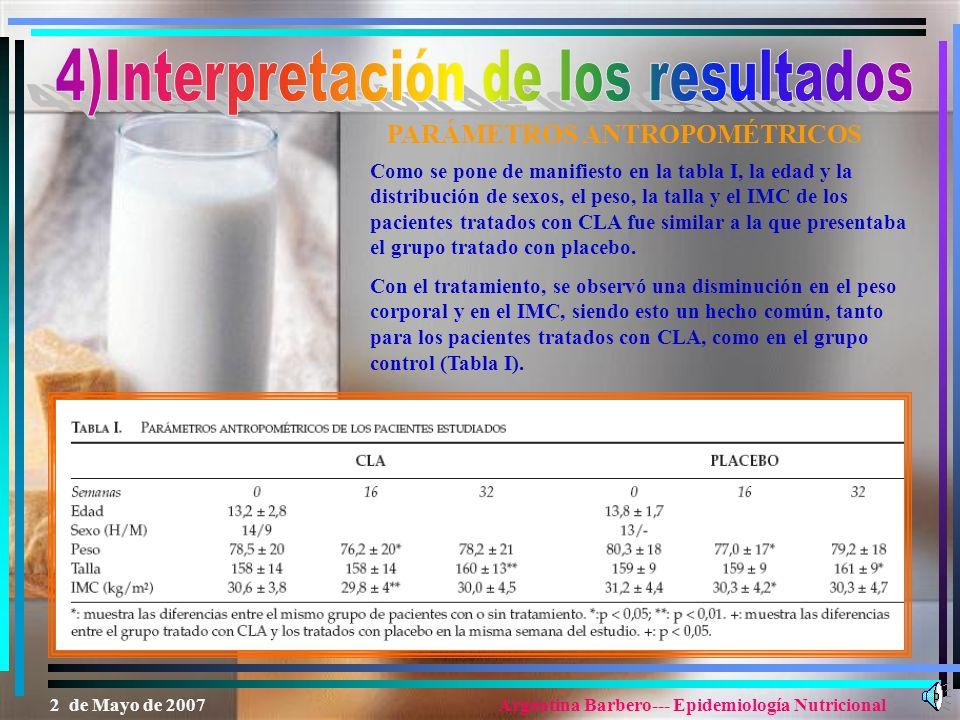 4)Interpretación de los resultados