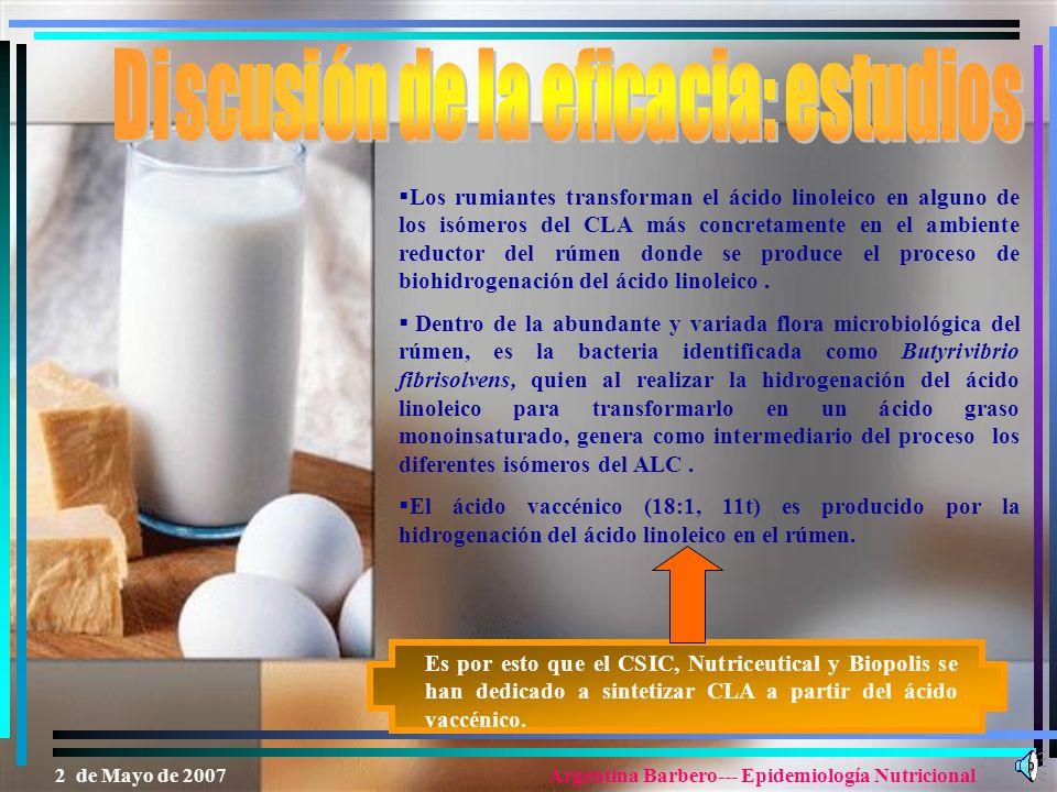 Discusión de la eficacia: estudios
