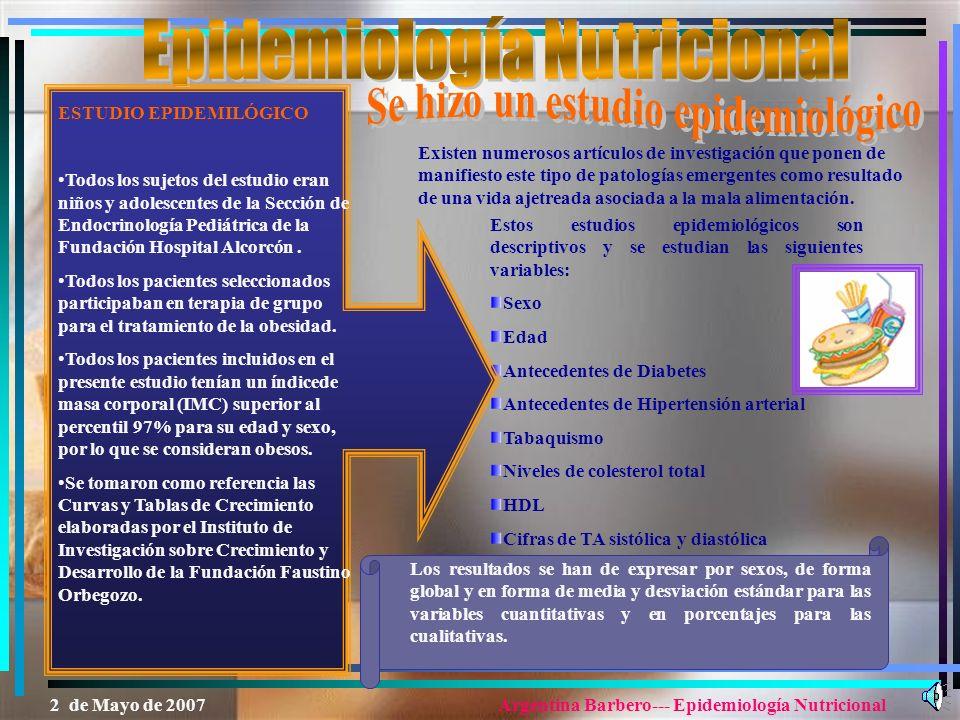 Epidemiología Nutricional
