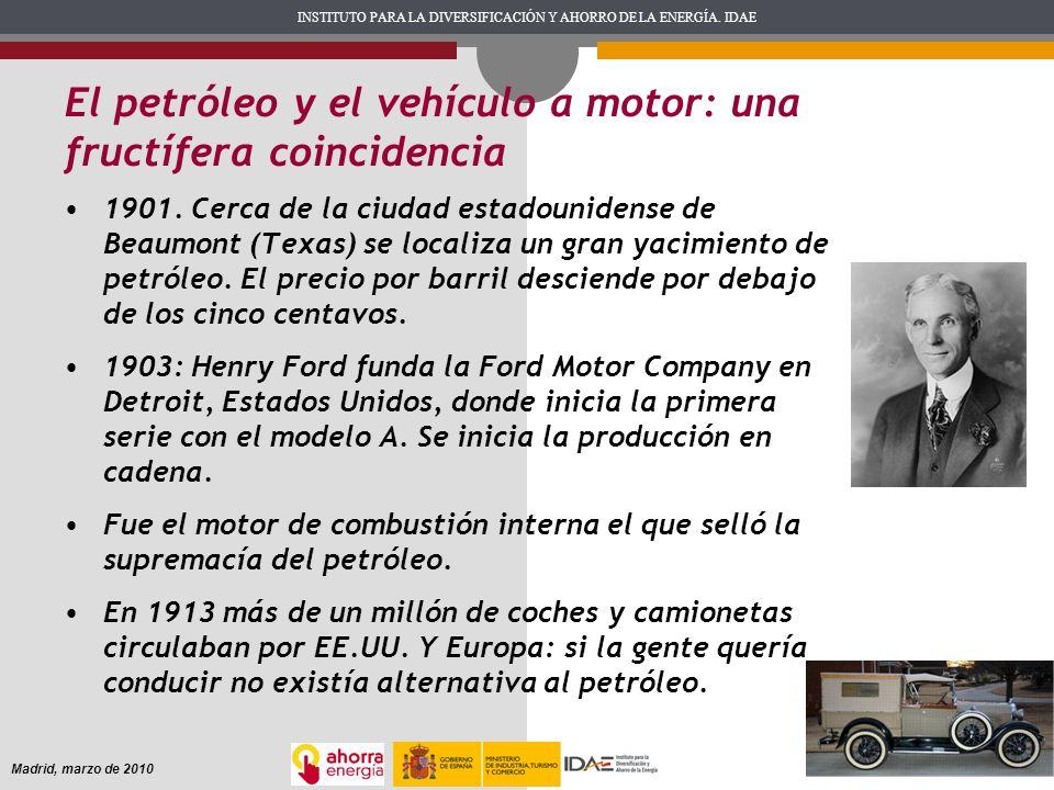 El petróleo y el vehículo a motor: una fructífera coincidencia