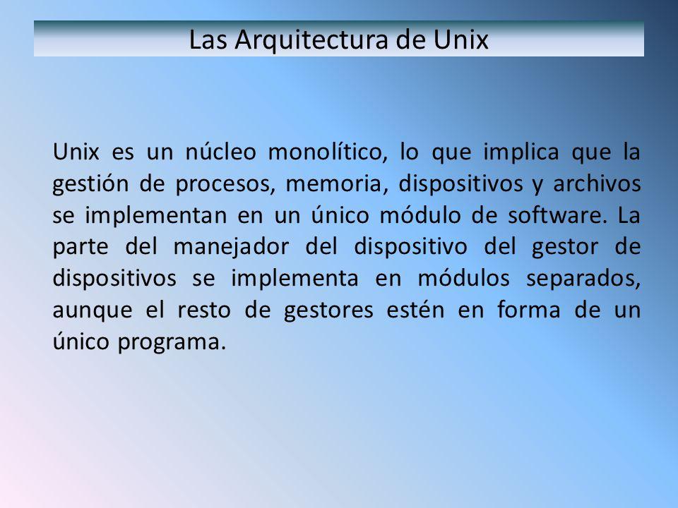 Las Arquitectura de Unix