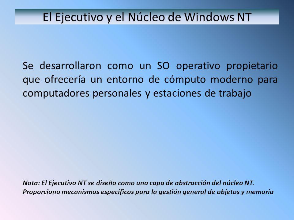 El Ejecutivo y el Núcleo de Windows NT