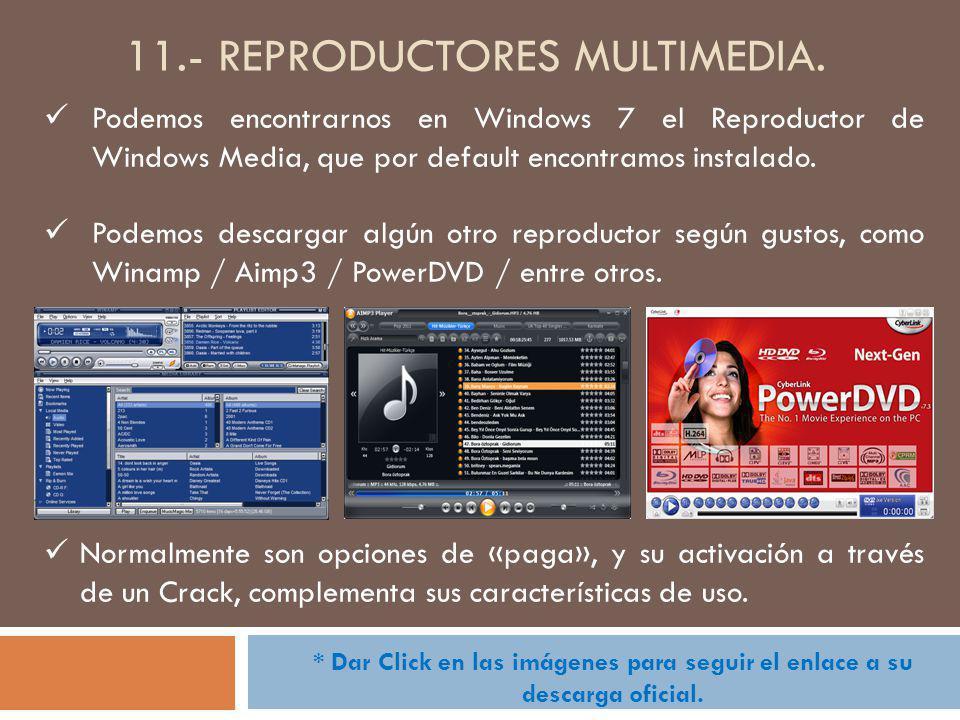 11.- reproductores multimedia.