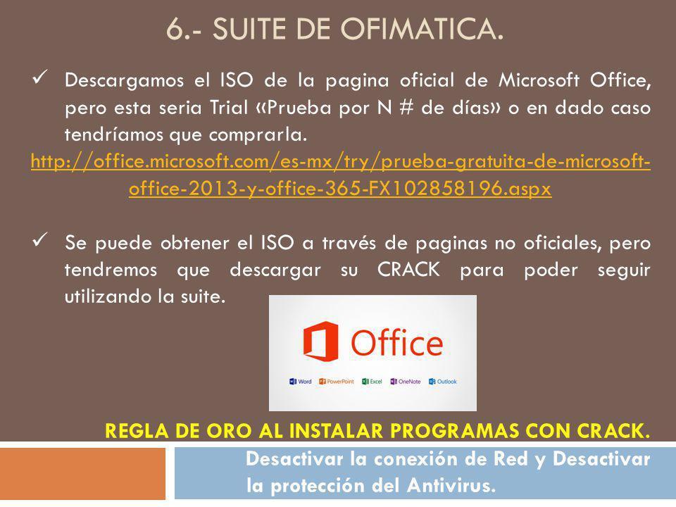 6.- SUITE DE OFIMATICA.