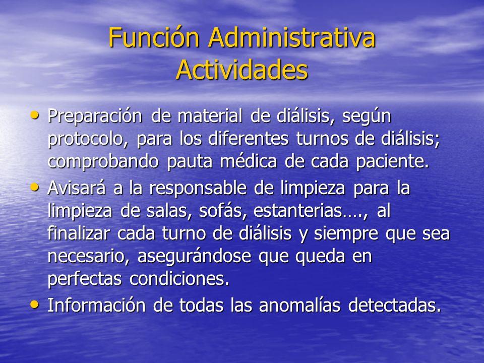 Función Administrativa Actividades