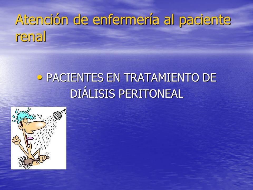 Atención de enfermería al paciente renal