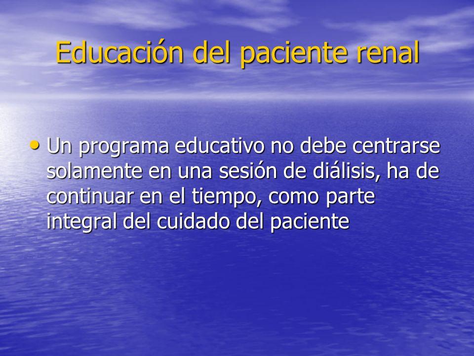 Educación del paciente renal