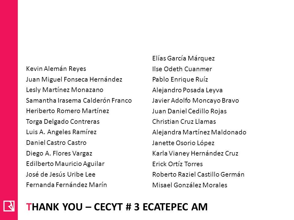 Thank you – cecyt # 3 ecatepec am