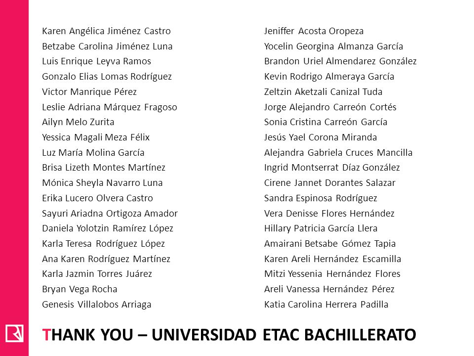 Thank you – universidad etac bachillerato