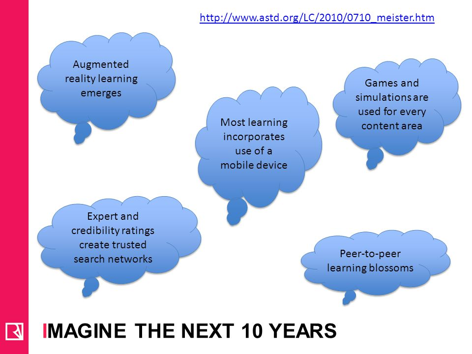 Imagine the next 10 years http://www.astd.org/LC/2010/0710_meister.htm