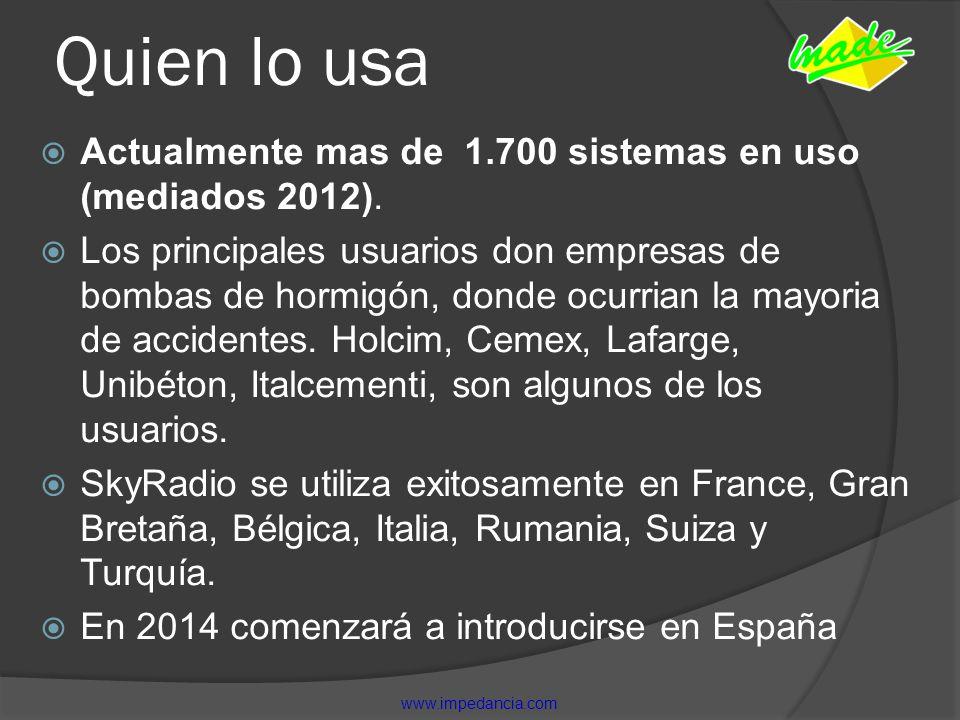 Quien lo usa Actualmente mas de 1.700 sistemas en uso (mediados 2012).