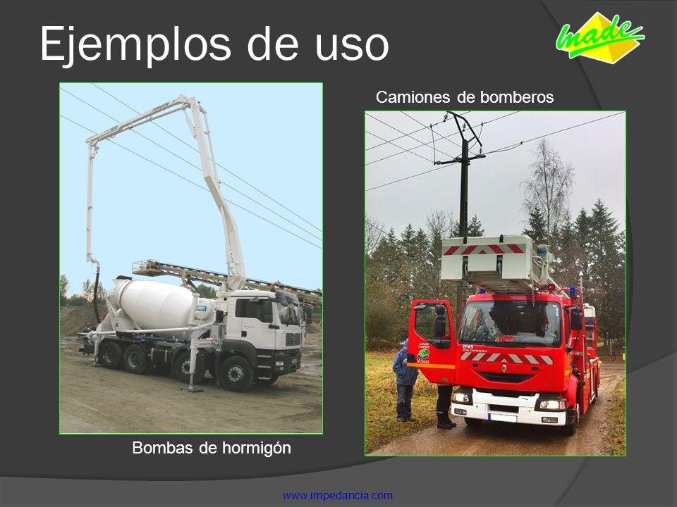 Ejemplos de uso Camiones de bomberos Bombas de hormigón