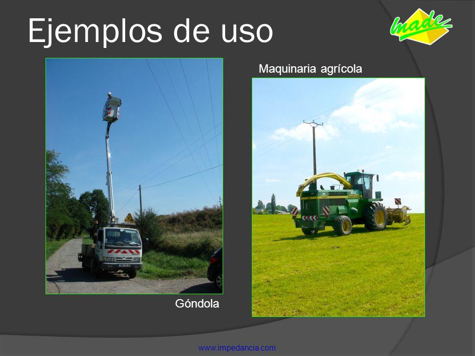 Ejemplos de uso Maquinaria agrícola Góndola www.impedancia.com