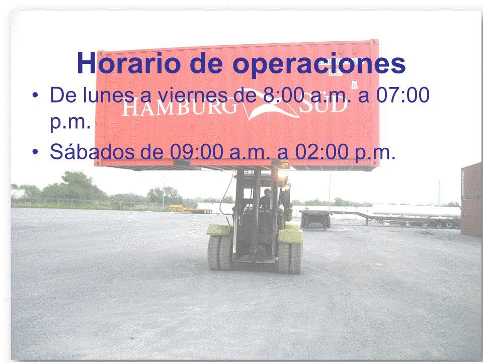 Horario de operaciones