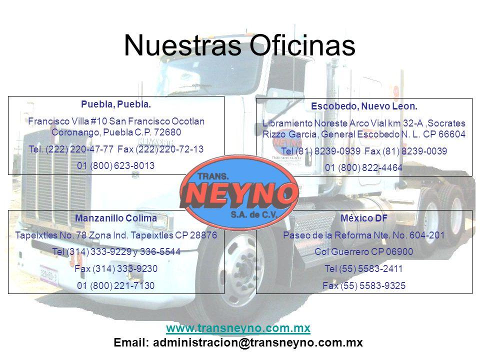 Nuestras Oficinas www.transneyno.com.mx