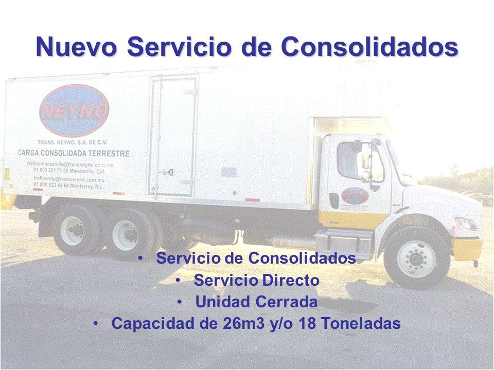 Nuevo Servicio de Consolidados
