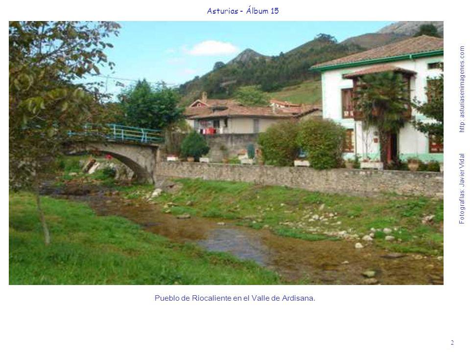 Pueblo de Riocaliente en el Valle de Ardisana.