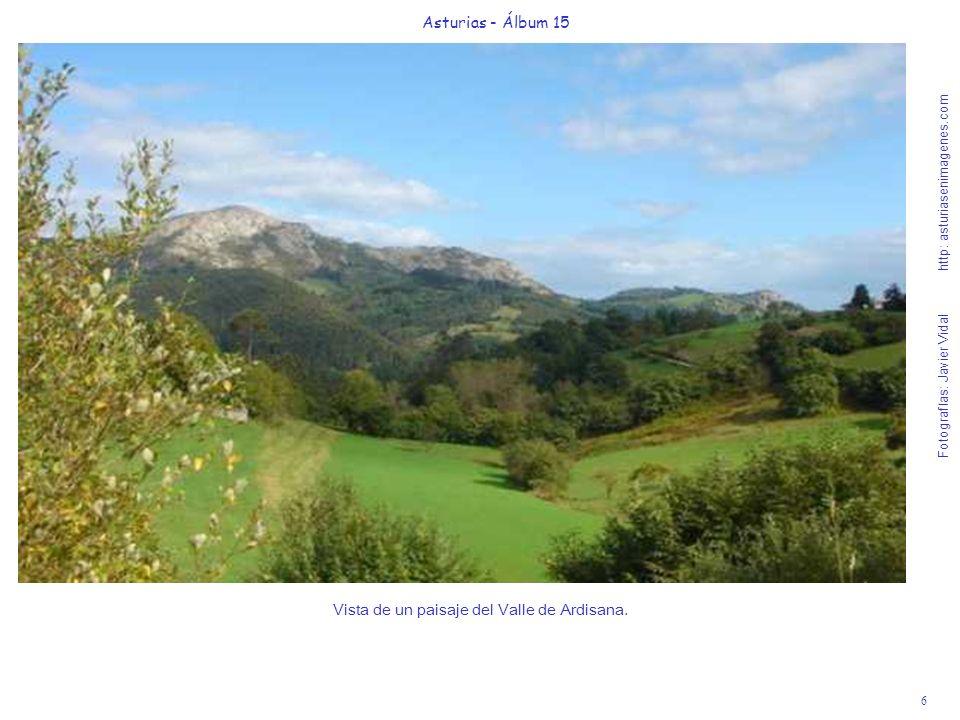 Vista de un paisaje del Valle de Ardisana.