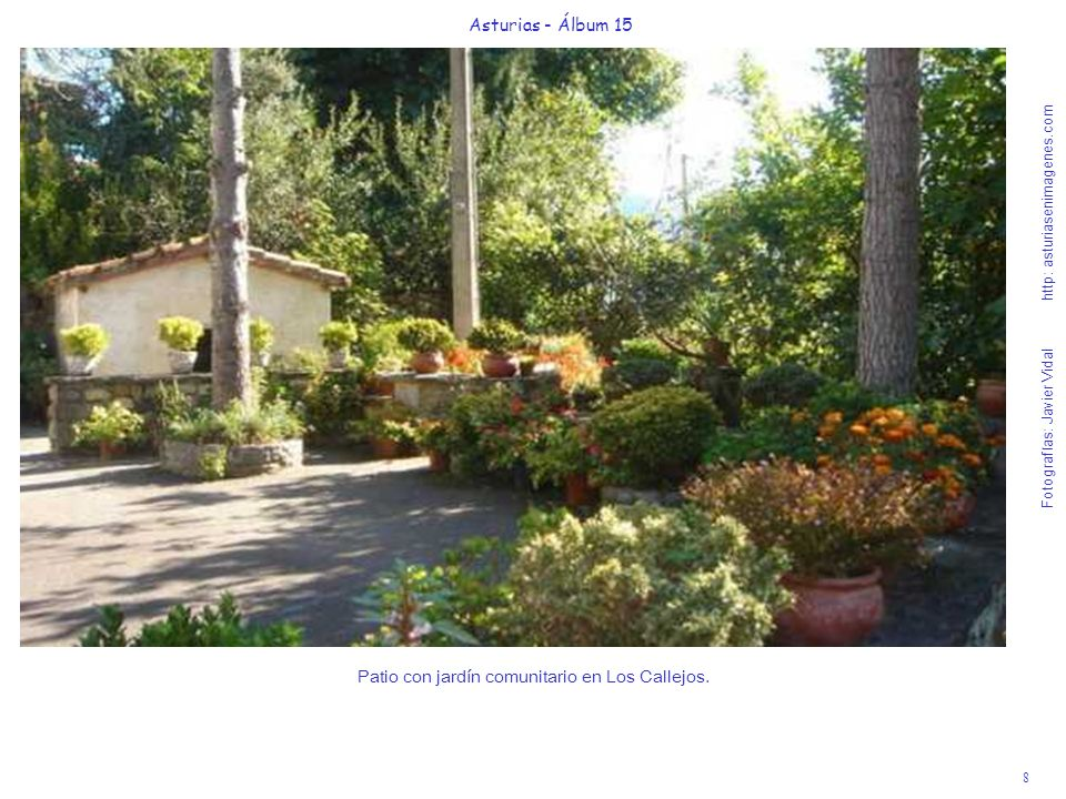 Patio con jardín comunitario en Los Callejos.