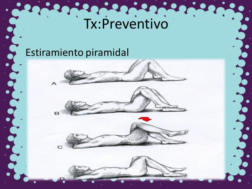 Tx:Preventivo Estiramiento piramidal