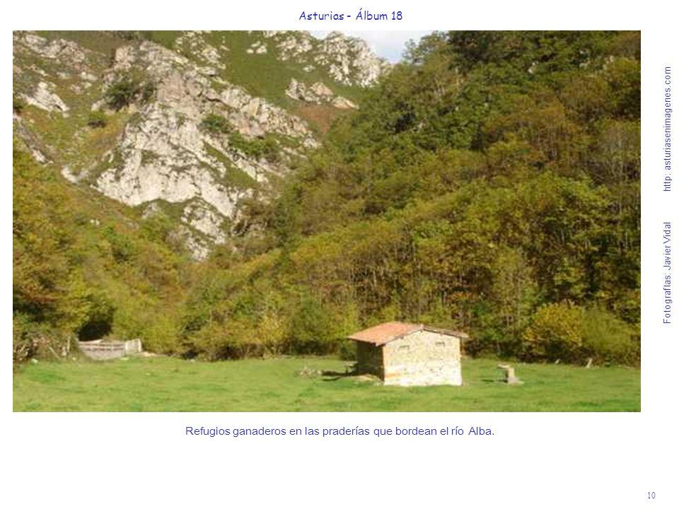 Refugios ganaderos en las praderías que bordean el río Alba.