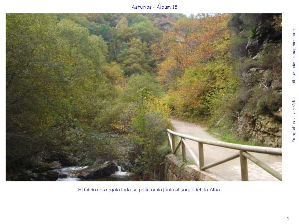 El inicio nos regala toda su policromía junto al sonar del río Alba.