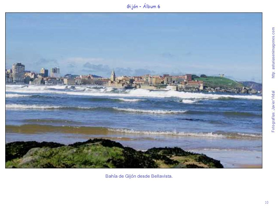 Bahía de Gijón desde Bellavista.