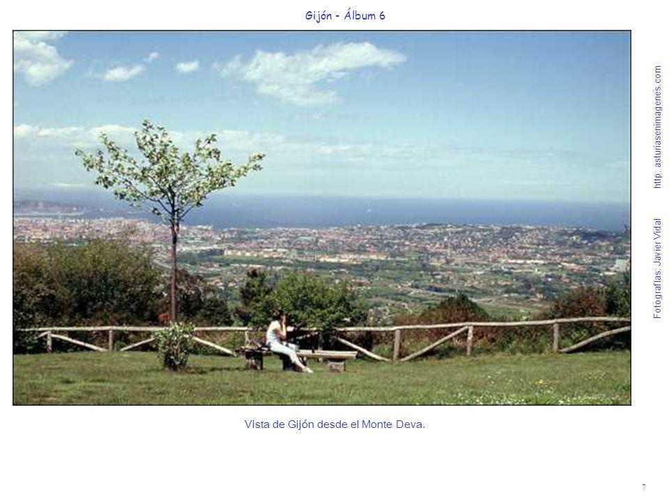 Vista de Gijón desde el Monte Deva.