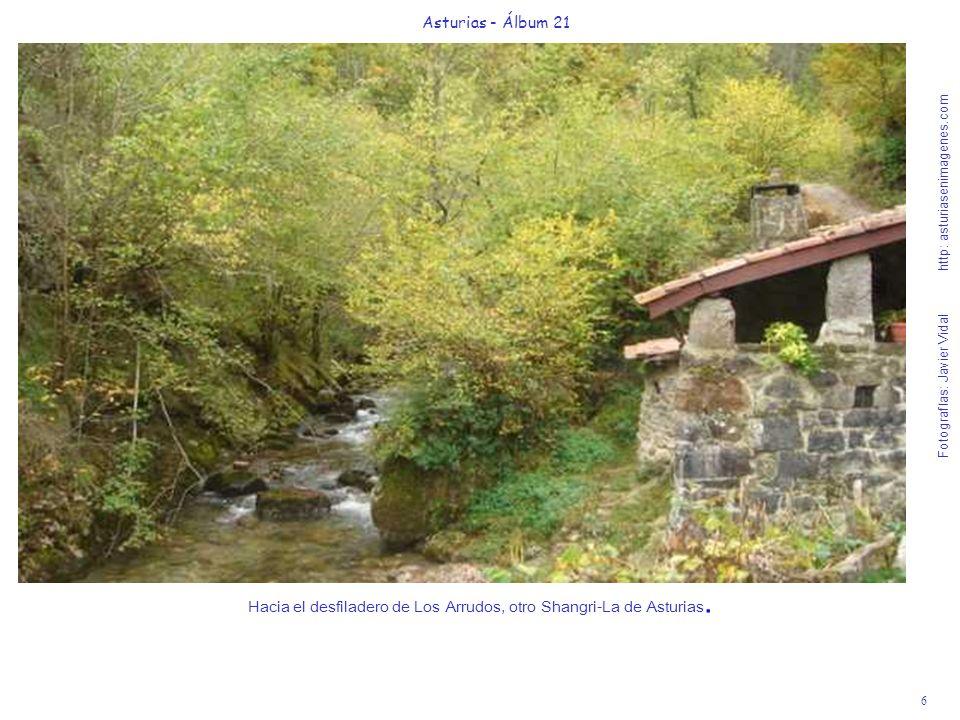Hacia el desfiladero de Los Arrudos, otro Shangri-La de Asturias.
