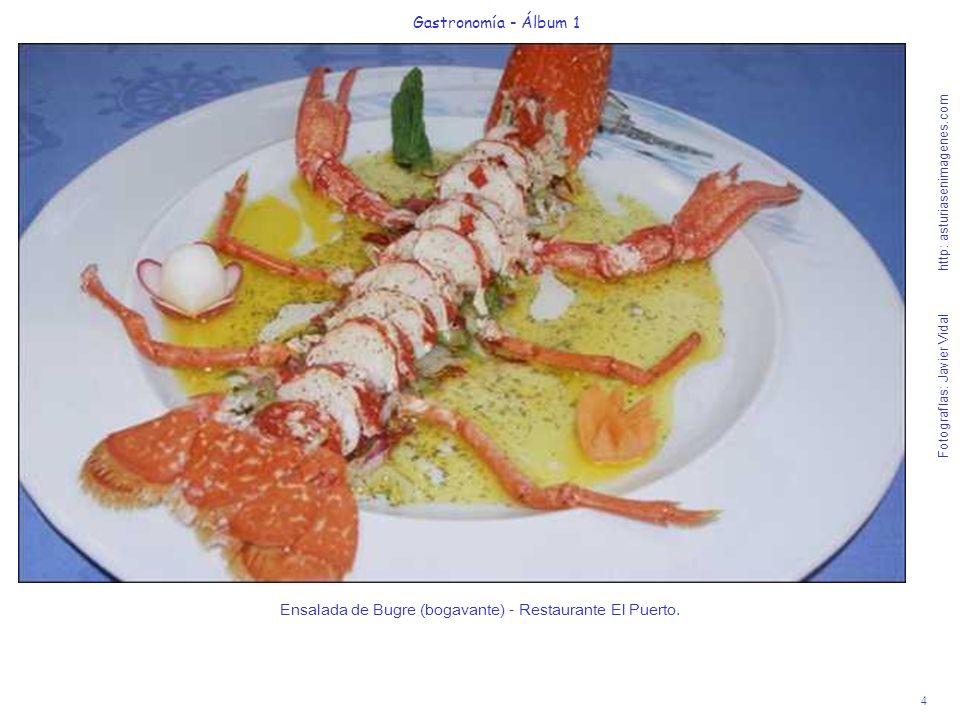 Ensalada de Bugre (bogavante) - Restaurante El Puerto.