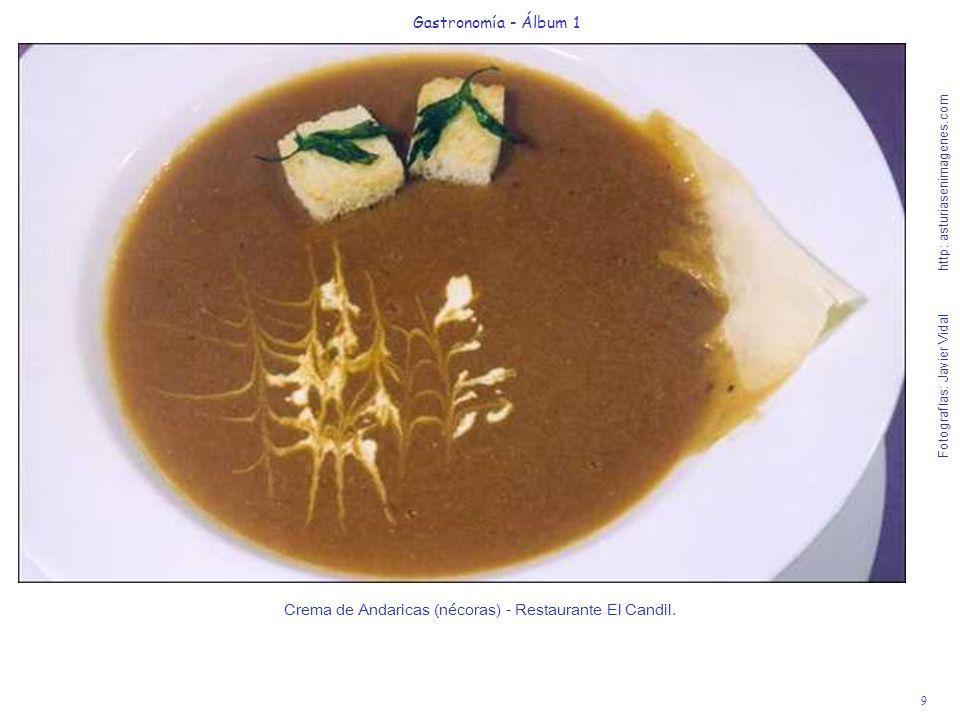 Crema de Andaricas (nécoras) - Restaurante El Candil.