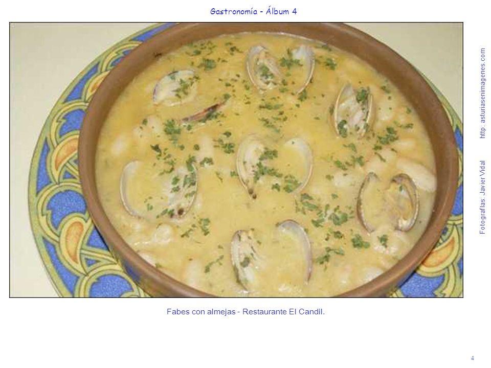 Fabes con almejas - Restaurante El Candil.
