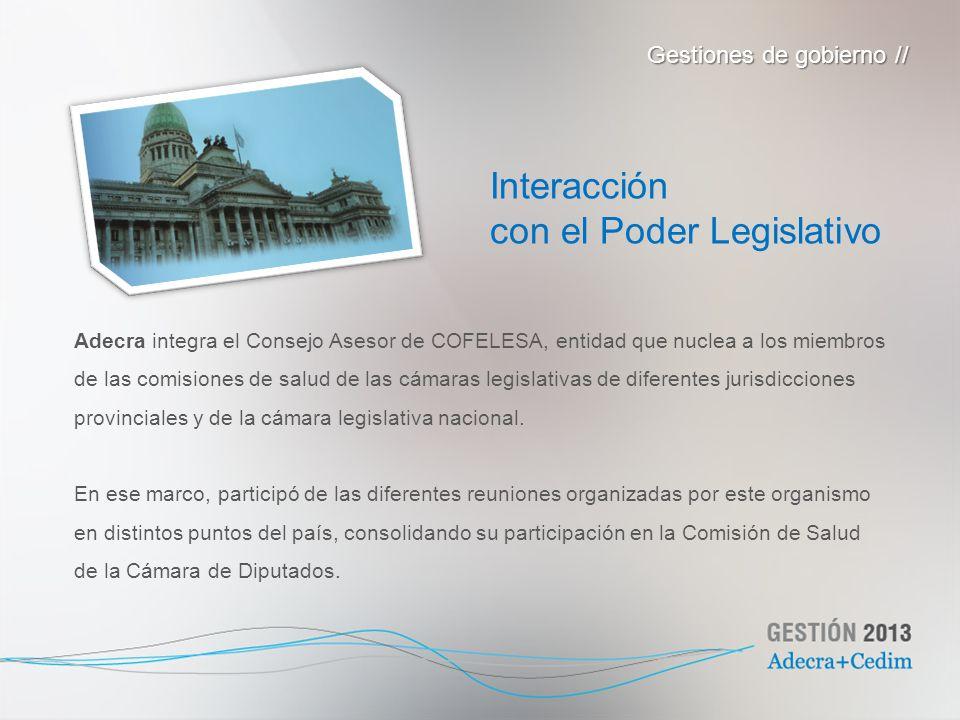con el Poder Legislativo