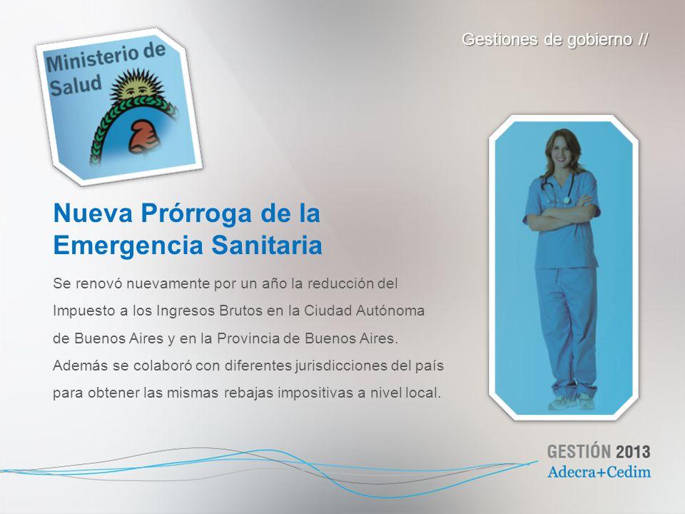 Nueva Prórroga de la Emergencia Sanitaria