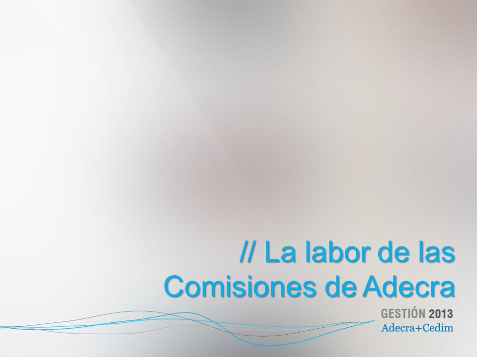 // La labor de las Comisiones de Adecra