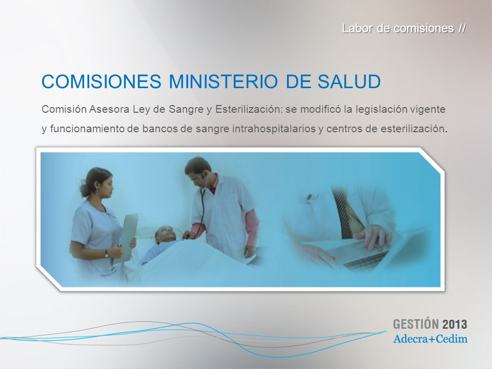 COMISIONES MINISTERIO DE SALUD